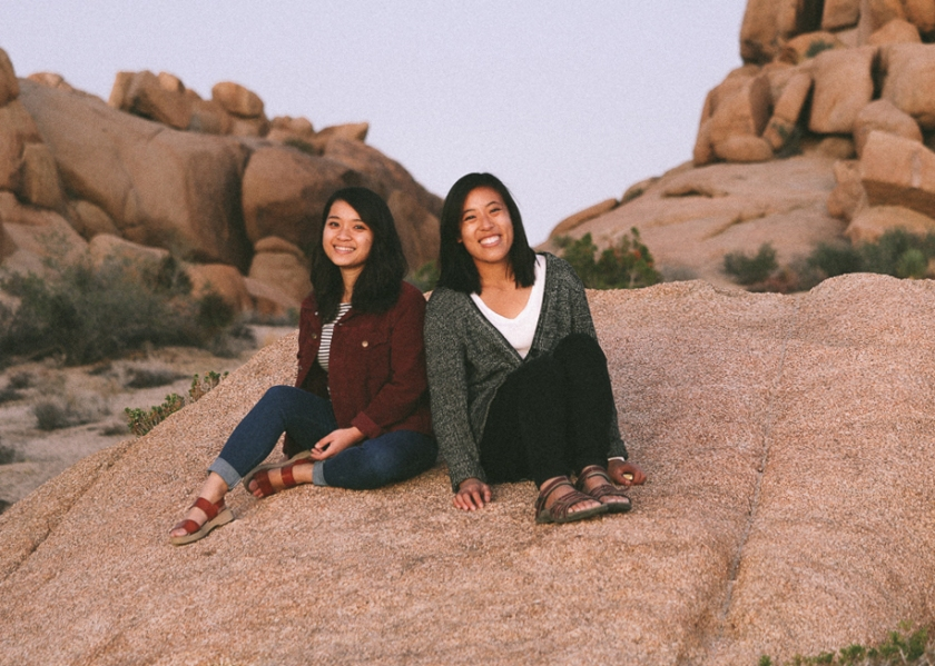 Jennifer and Vivian at Joshua Tree National Park