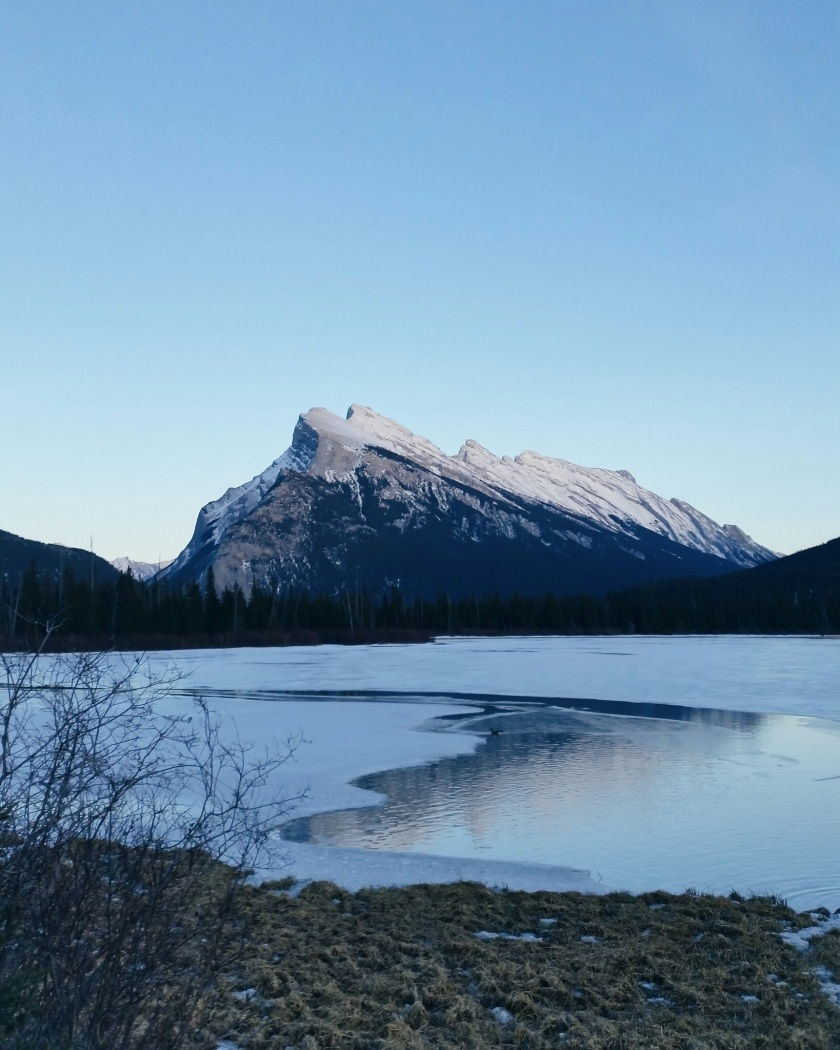 sunset at Vermilion Lakes in Banff National Park