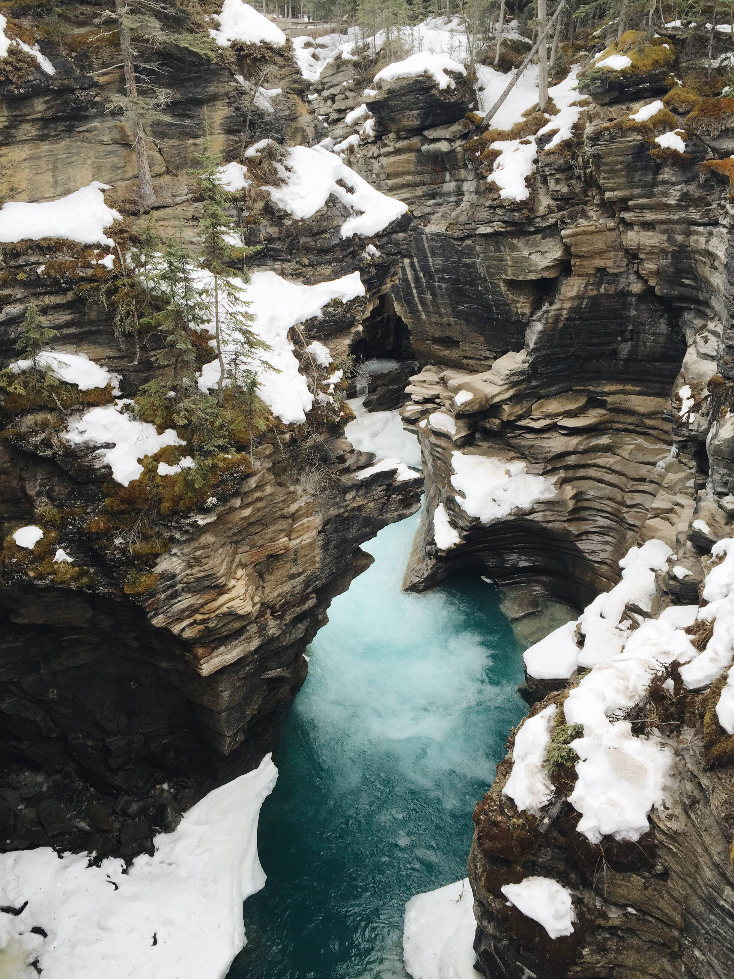 Athabasca Falls in Jasper National Park
