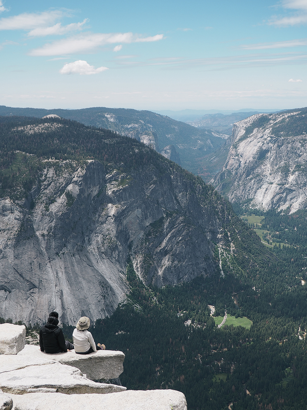 the view from the top of Half Dome