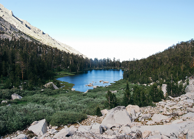Flower Lake along Kearsarge Pass