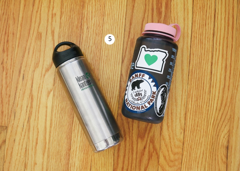 klean kanteen and nalgene reusable water bottles