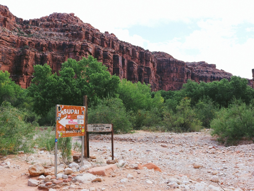 Sign to Havasupai