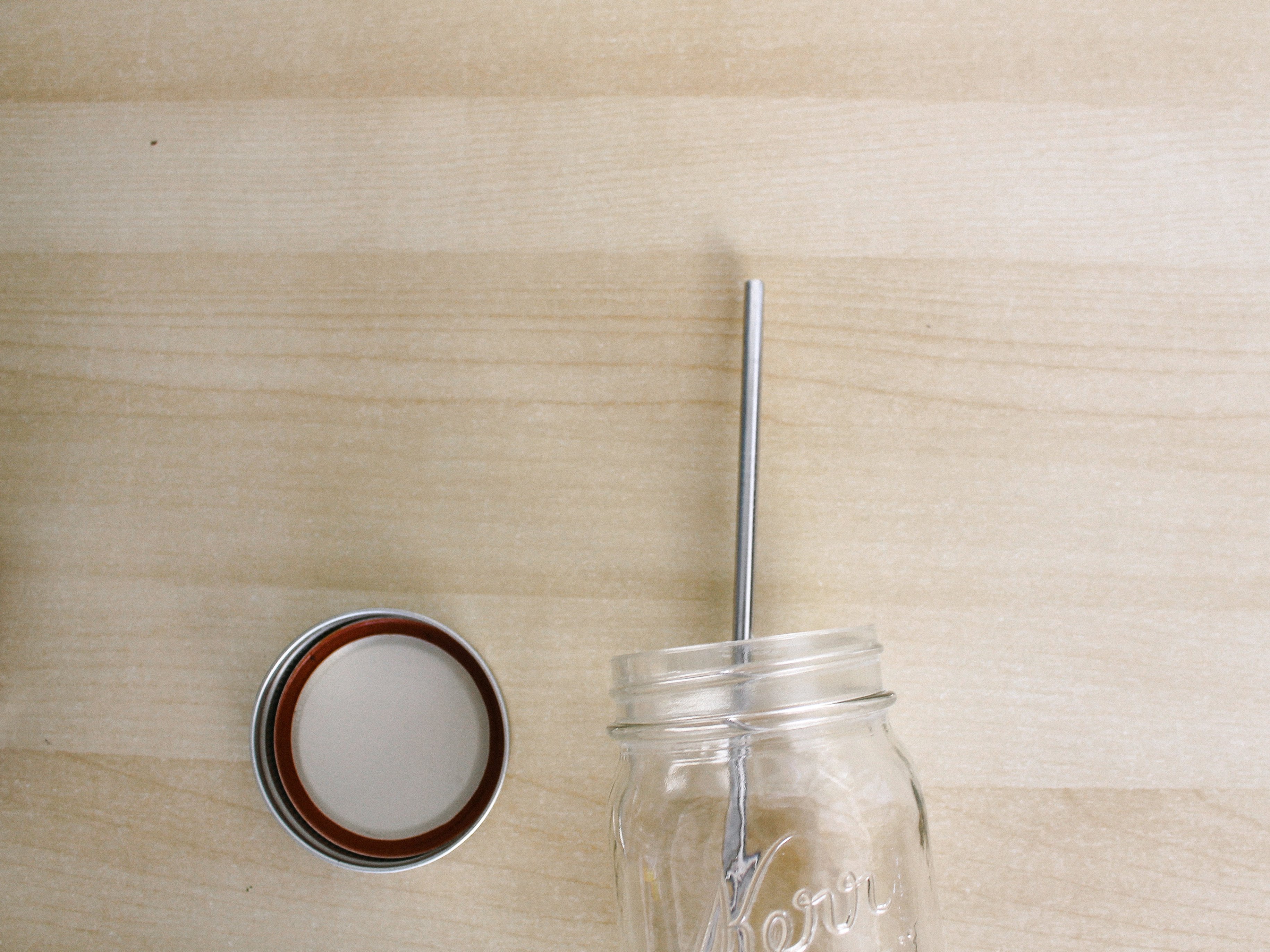 zero waste mason jar