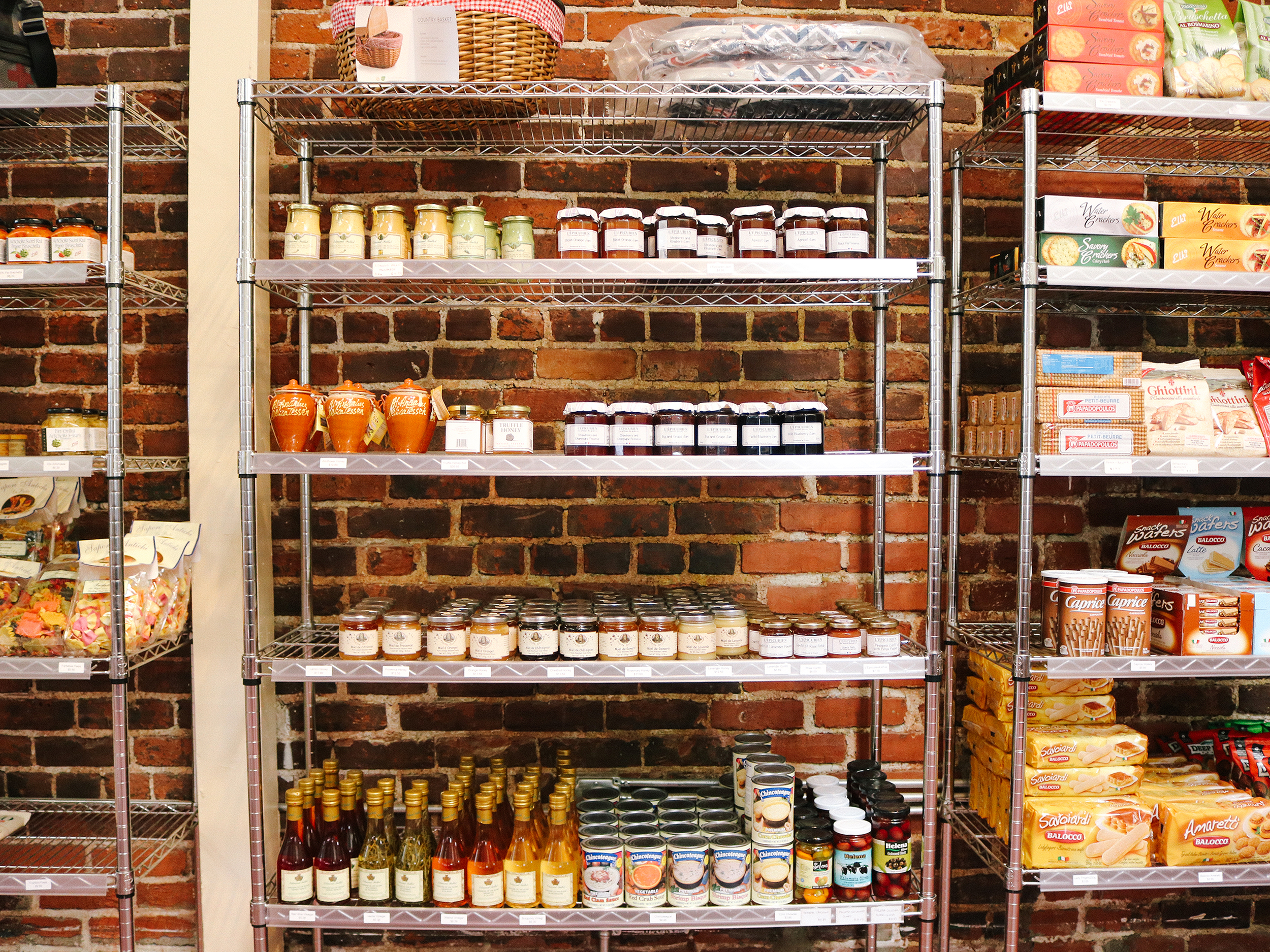 pantry of dry goods