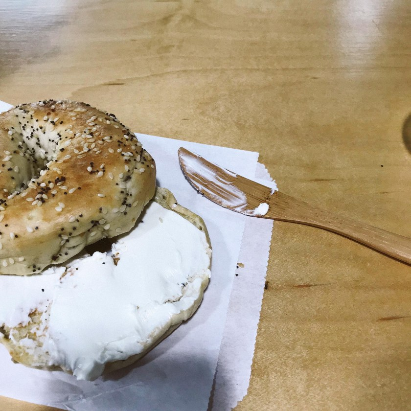 To-Go Ware reusable utensils with a bagel