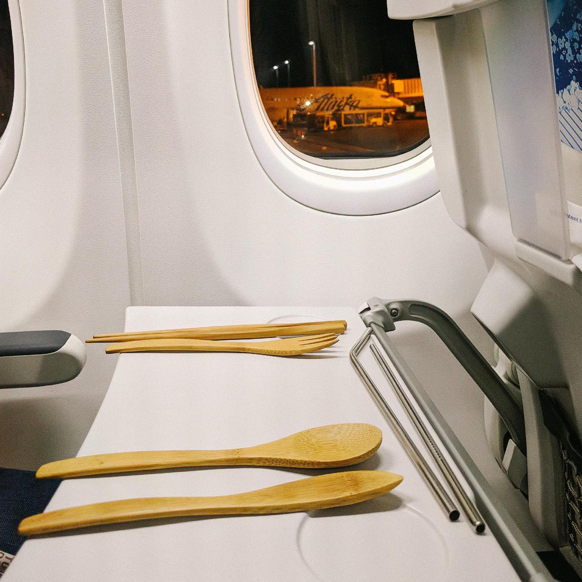 To-Go Ware reusable utensils on a flight