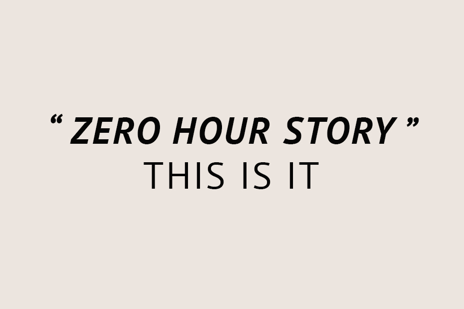 zero hour story (cover photo)