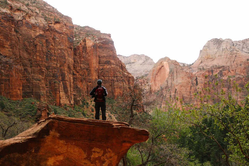 Friend in Zion National Park