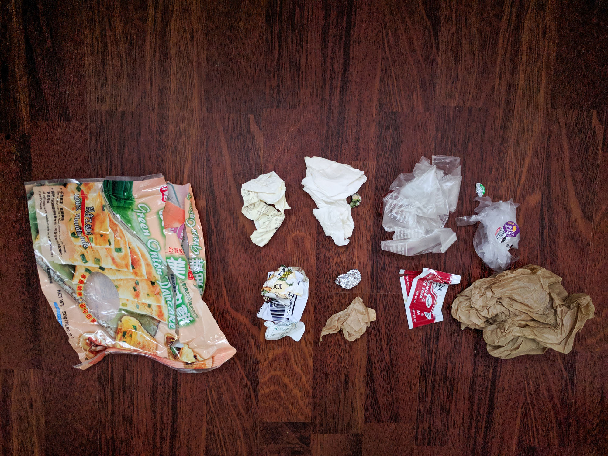 waste in a 12 oz mason jar day laid out