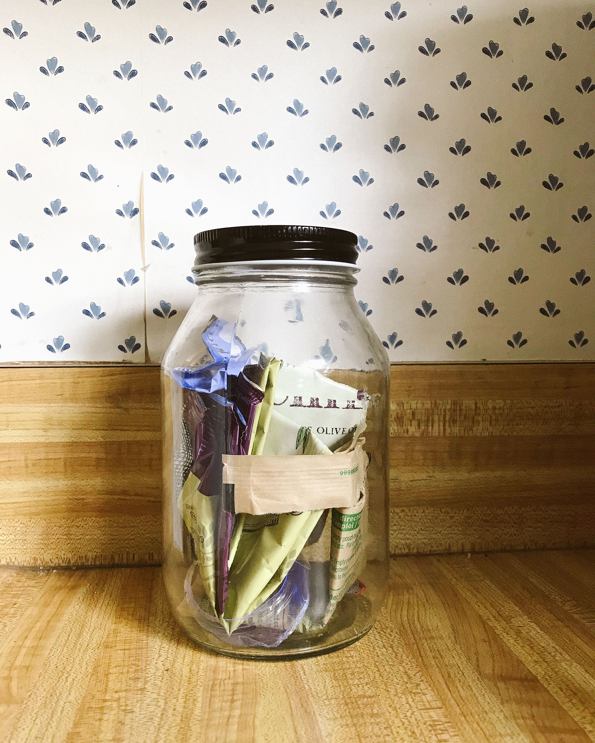 mason jar with waste day 3