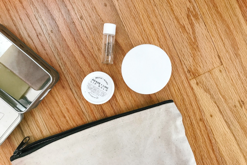 what's in my bag: low impact toiletries kit